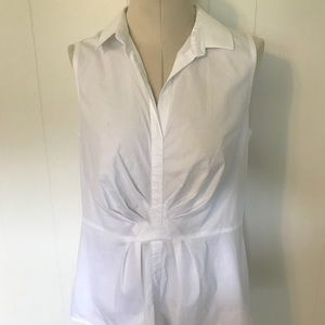 Layfayette 148 white sleeveless shirt